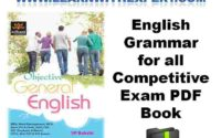English Grammar for all Competitive Exam PDF Book