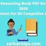 Latest Reasoning Book PDF Download 2020