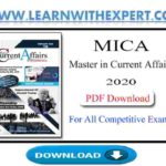 MICA Master in Current Affairs 2020 PDF Book