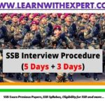 SSB Selection Process Full Details