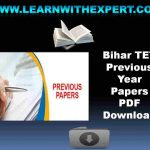 Bihar TET Previous Year Papers PDF Download