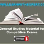 General Studies Material for Competitive Exams
