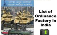 List of Ordinance Factory in India