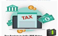 Tax System in India PDF Notes