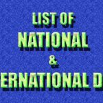 Important Days & Date National and International List