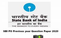 SBI PO Previous year Question Paper 2020