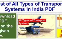 Transport System in India PDF Book