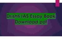 IAS Essay Book Download PDF
