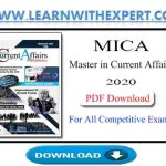 Master in Current Affairs 2020 PDF Book