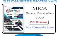 Master in Current Affairs 2020 PDF Book
