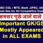 GK for SSC Bank Railway Exam